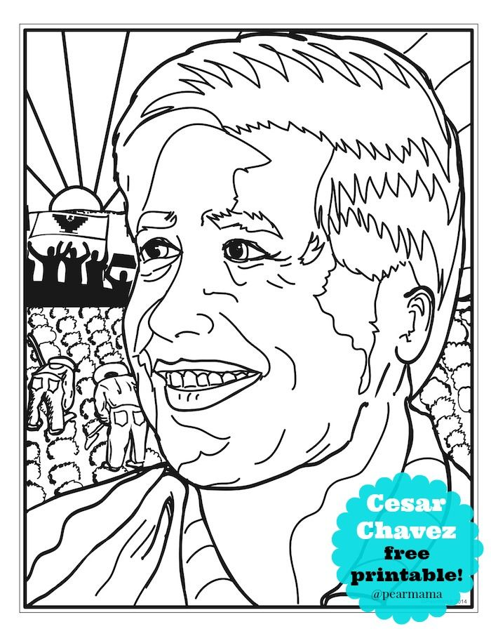 cesar chavez coloring page 1000 images about biography of cesar chavez on pinterest