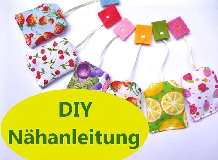 It´s Teatime ♥    Nähe süße Teebeutel aus Stoff zum Spielen für die Kinderküche und den Kaufmannsladen oder als witziges Geschenk für Teetrinker.   ...