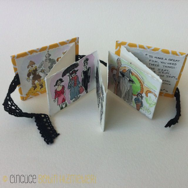 Sinema Kitabi Cincüce'nin minyatür kitapları / akordeon kitap  The Movie Book: Handmade miniature acordeon book.