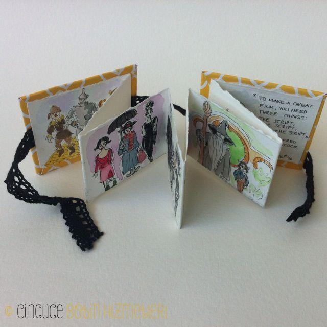 Sinema Kitabi Cincüce'nin minyatür kitapları / akordeon kitap  The Movie Book: Handmade miniature acordeon book.