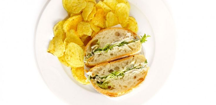 Tuna Sandwich and Chips for Outdoor Movie  Picnic