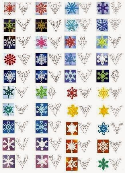 Cutting snowstars. Different paterns. Sneeuwsterren knippen. Vele patronen
