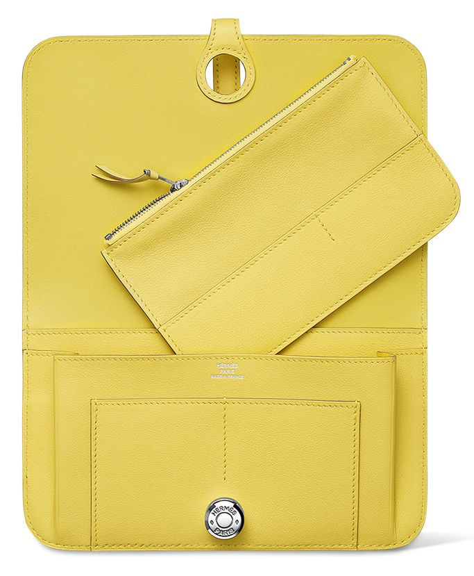 hermes kelly wallet yellow - photo #45