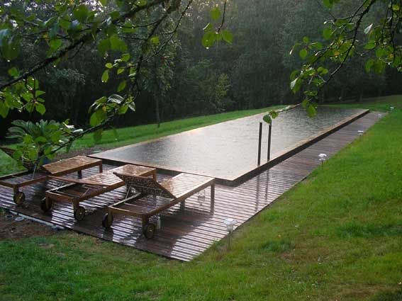 1000 id es sur le th me pool house plans sur pinterest for Piscine a debordement effet miroir
