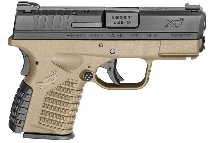 Springfield XDS 3.3 Single Stack 9mm Flat Dark Earth (FDE) Essentials Package | Sportsman's Outdoor Superstore