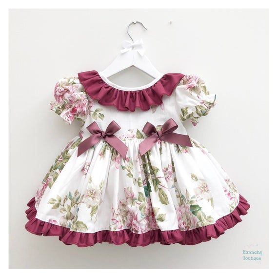 Hannahs Boutique Custom All Sizes 6 12 Month 5 6 Year Baby Etsy Puffball Dresses Frilly Dresses Birthday Dresses