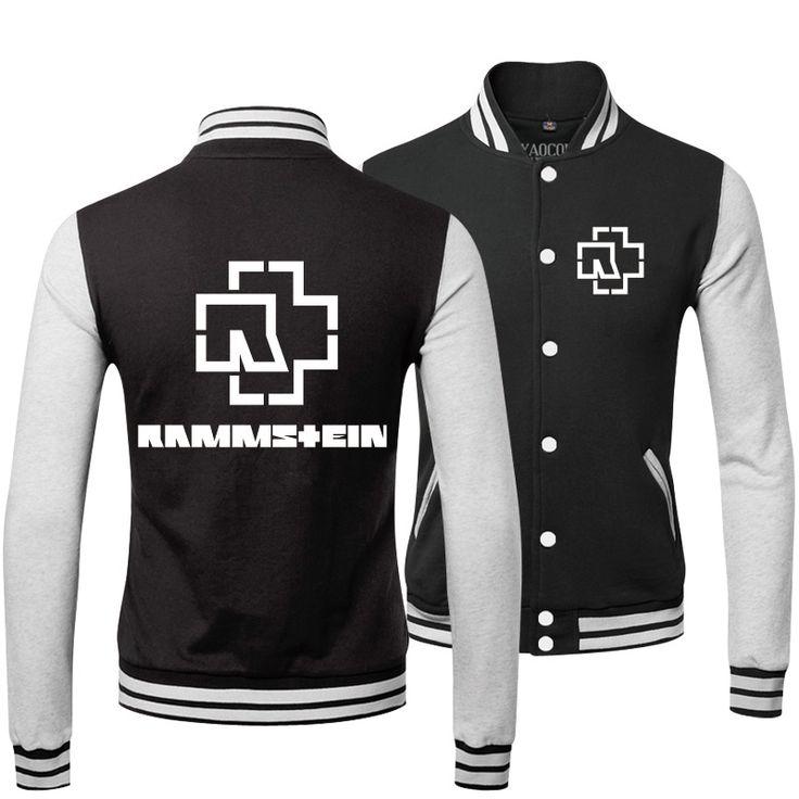 Купить Зима костюм стиль колледжа форма толстовка хип хоп свободного покроя Rammstein Rock лента мужские бейсбол куртки и пальтои другие товары категории Курткив магазине V-man Clothing Co., LTDнаAliExpress. куртки перо и пальто кружева