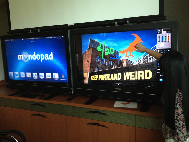 "Intern @Infocus drawing on the ""Keep Portland Weird"" Photo!! :D Adding some fun to lunch time! #Mondopad #Infocus #lunch #pdx #keepportlandweirdInternational Infocus, Mondopad Infocus, Infocus Drawing, Infocus Lunches"