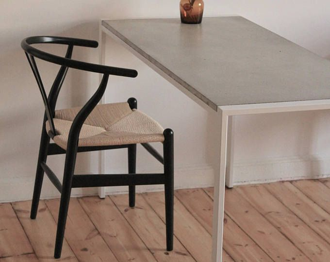Concrete Table Concrete Dining Table Concrete Desk Concrete