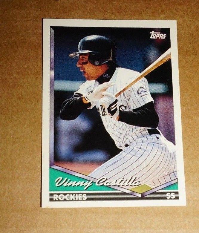 1994 Topps Baseball Card Vinny Castillo 163 Beautiful Condition