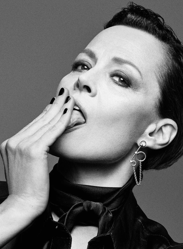 Sigourney Weaver, photographed by Craig McDean for INTERVIEW, March 2015.