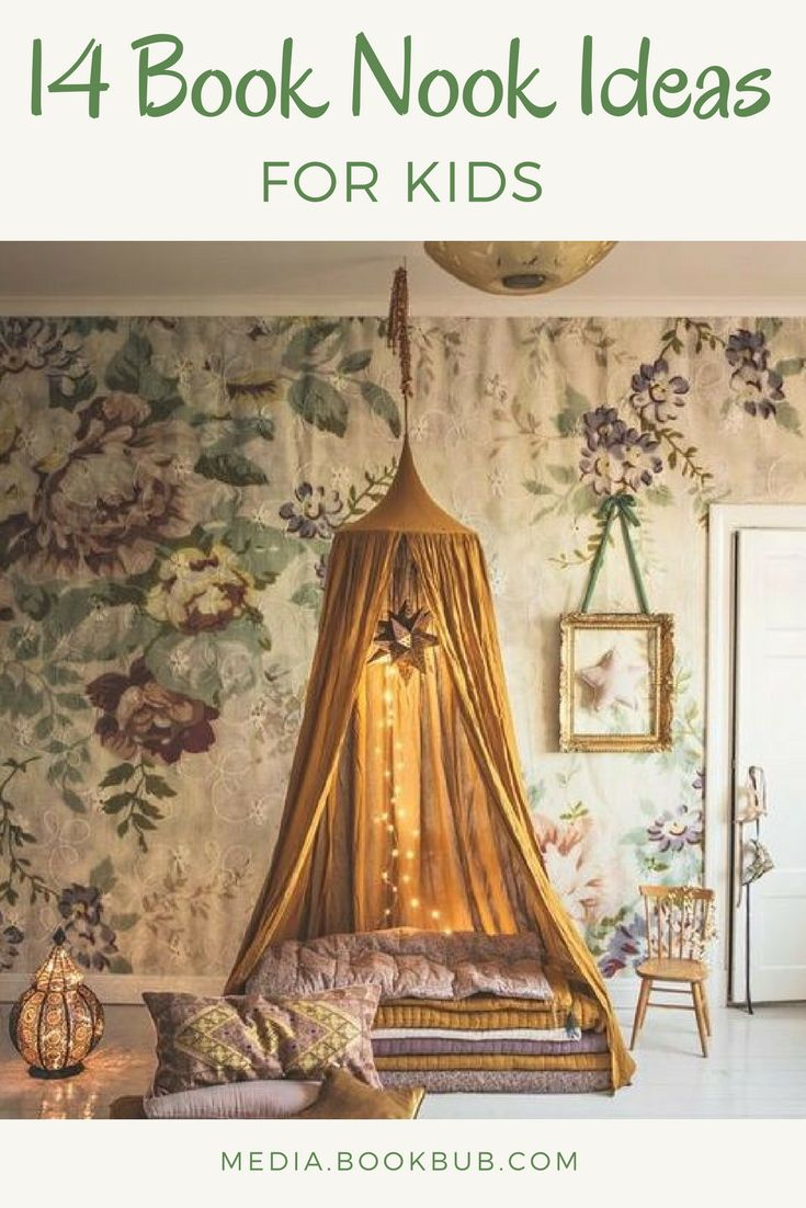 14 book nooks and reading nooks for kids and for adults. Including cozy reading forts, DIY book nooks, and more.