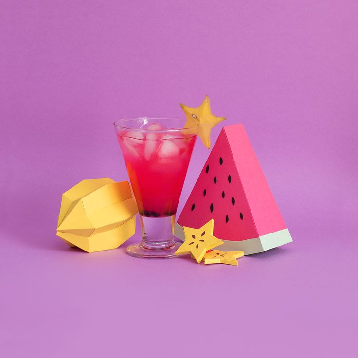 By RENDI studio// Fresh Drink is a collection about flavours and colors which all fruits are made of paper. *http://www.rendiestudio.com.br/