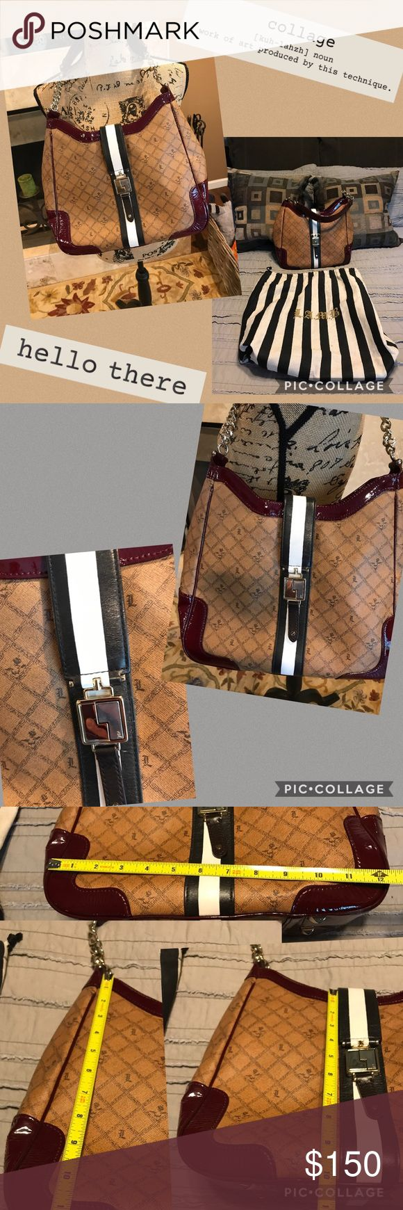 LAMB handbag LAMB handbag. Measurements In pics. This is about as close to new condition as you can get. Used it once, for an Event. Dust bag included. Colors are pretty accurate in pics... tried to offer lots of details. Ask questions! No lowballing please and thank you. Reasonable offers always welcomed! L.A.M.B. Bags