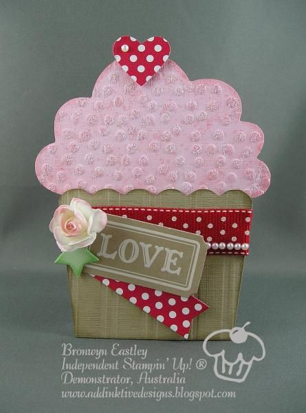 Cupcake Gift Card Holder by BronJ - Cards and Paper Crafts at Splitcoaststampers