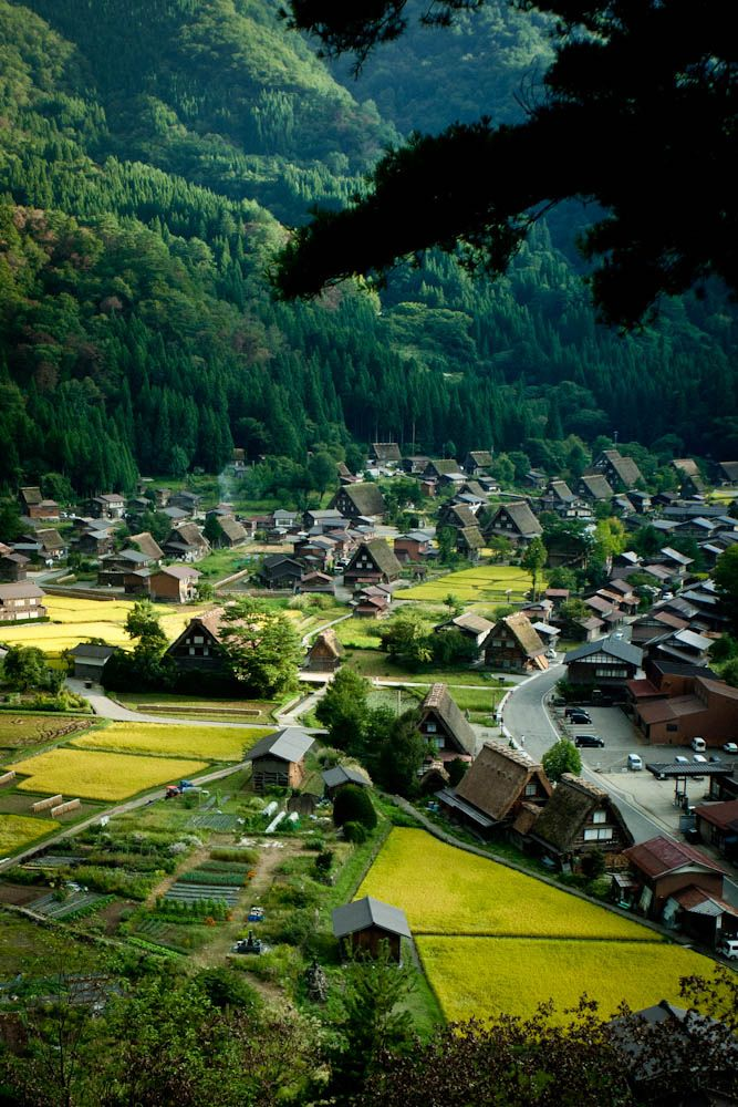 There is Shirakawa-Go, Japan. It has been designated a World Heritage Site.