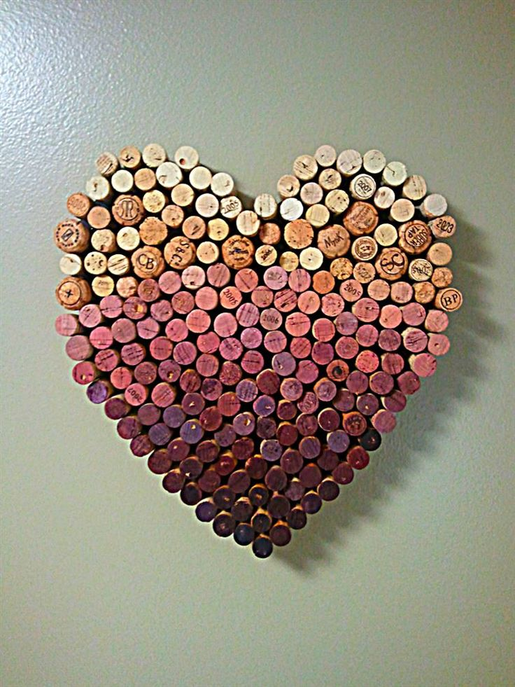 Wine cork wall art