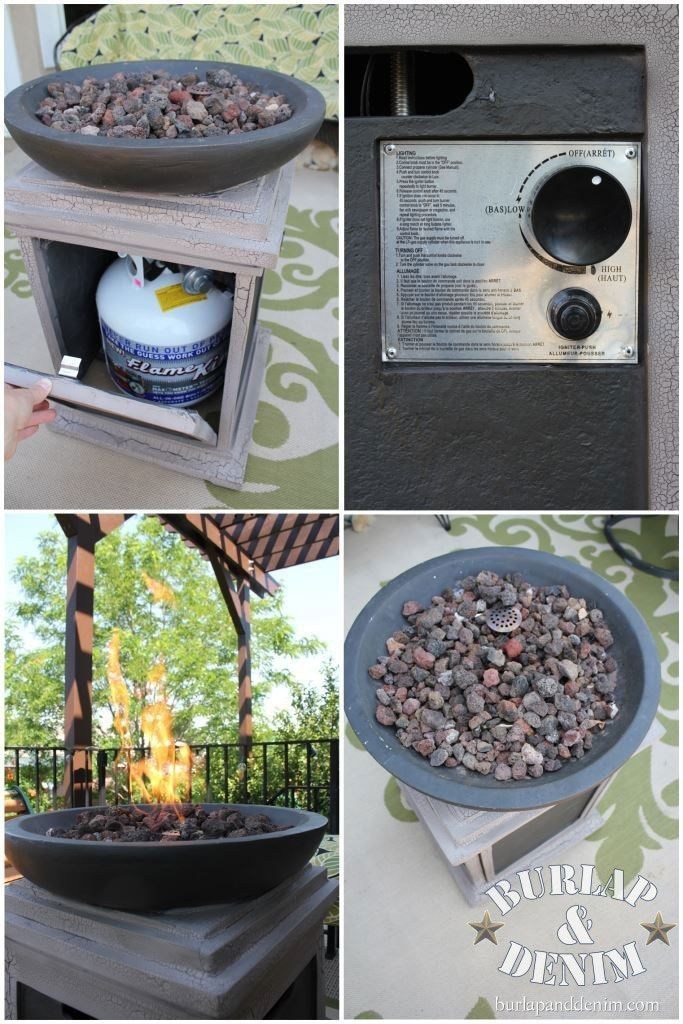 Why you should get a Propane Gas Fire Pit. She even lists places to purchase them from. July 2013