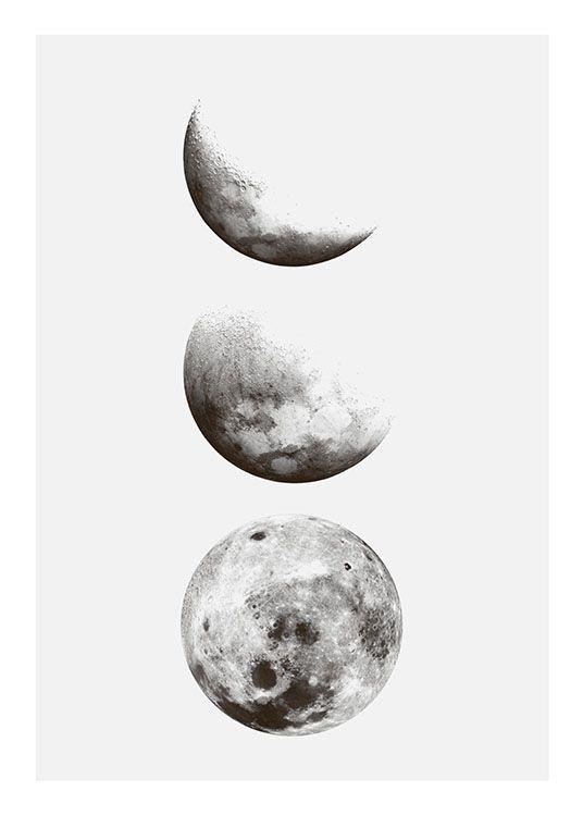 Poster mit dem Mond