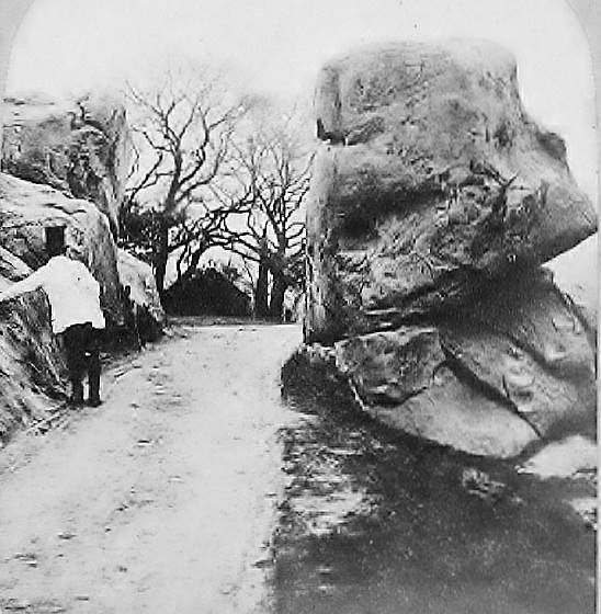 The Parson's Nose, Denny Bottom Rocks, Rusthall c1865. (Also known as 'The Old Man's Head' or 'The Pulpit'. Photo originally uploaded by Mick White.