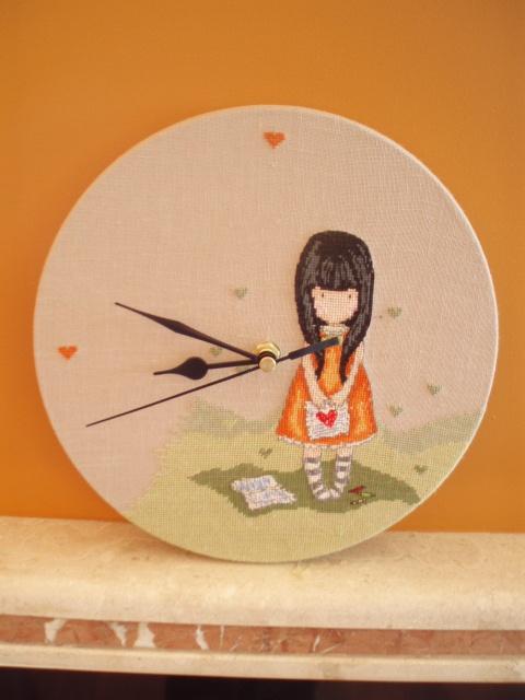 cross-stitch clock