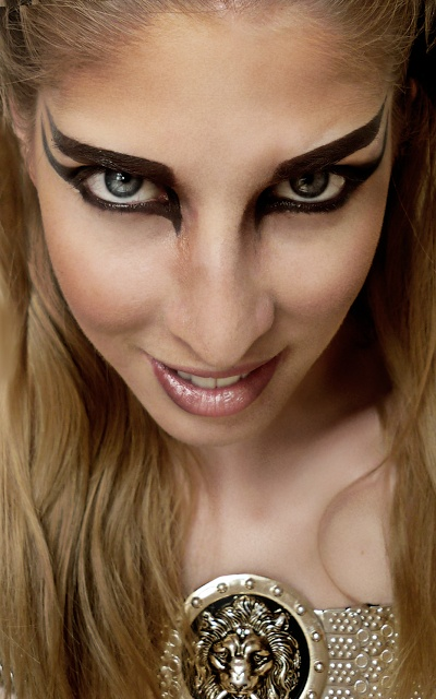 female warrior makeup