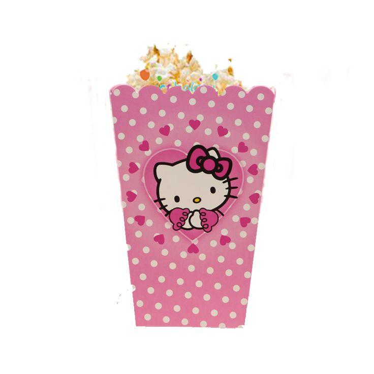 Hello Kitty Mısır Kutusu Hello Kitty Popcorn Ürün Özellikleri  Ürün Paketinde 10 Adet Mısır Kutusu bulunur. Karton Popcorn Kutusu ürünü sert kartondan imal edilmiştir. Mısır kutularının boyutları eni 8 cm, boyu 11.5 cm'dir. Görüntüdeki mısır görsel amacıyla kullanılmıştır.