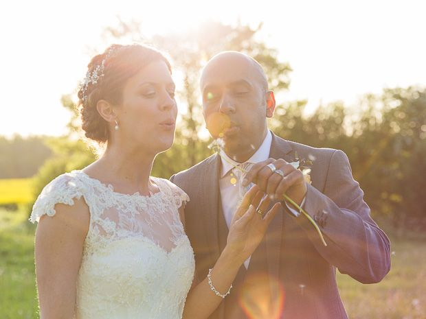 Emma Pumford and Jat Singh celebrated their #spring #wedding at #Merriscourt, a stunning barn in the #Cotswolds. Image © Louise Bowles Photography. #cotswoldwedding #realwedding #springwedding