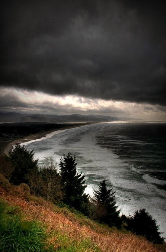 Storm, Oregon Coast.   I love watching storms on our beautiful Oregon coast