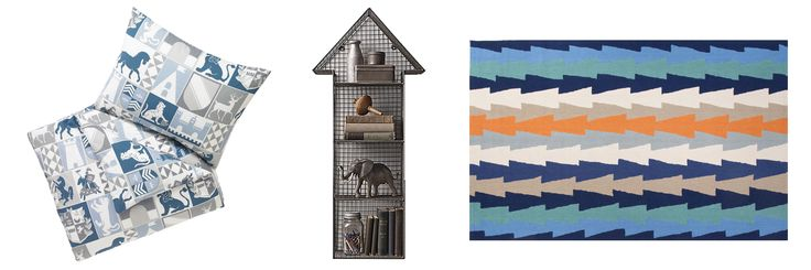 AFFORDABLE FINDS: KIDS ROOMS - 10. Chevalier Duvet Set @ DwellStudio, $95.99  //  11. Industrial Wire Cubby Arrow Shelf @ RH Baby & Child, $99.00  //  12. Jaipur Fusion Stairstep Rug @ Rugs USA, $171.00