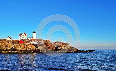 Cape Neddick lighthouse in Maine, USA
