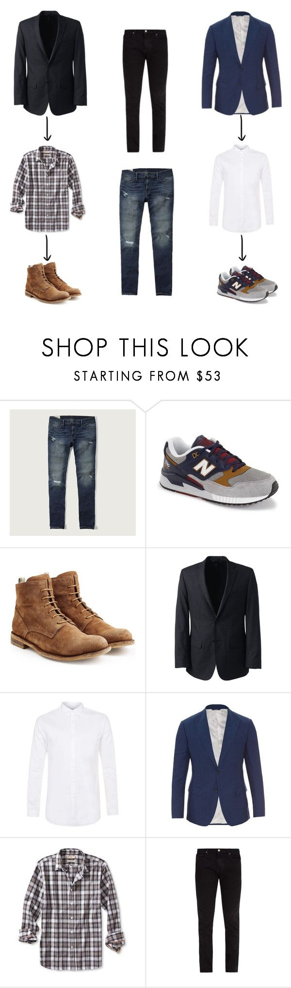 """fin de semana hombre"" by natyapshopper on Polyvore featuring Abercrombie & Fitch, New Balance, Officine Creative, Lands' End, Topman, Dolce&Gabbana, Banana Republic, Frame, men's fashion y menswear"