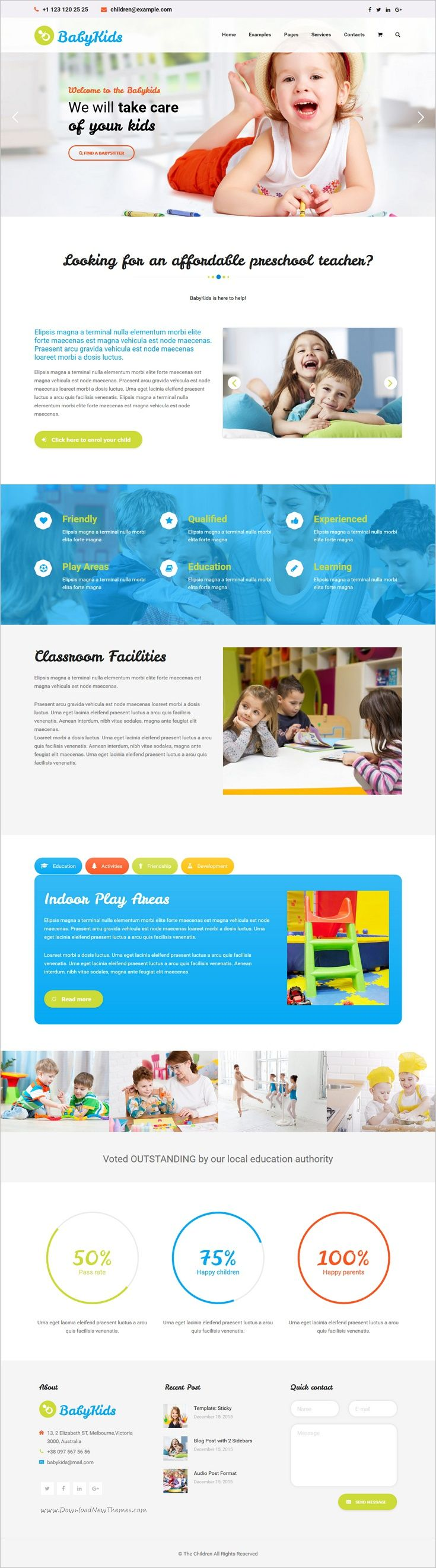 The Children is a wonderful Premium #WordPress theme for #webdesign babysitters, nannies, #kindergartens and child-relevant websites download now➩  https://themeforest.net/item/the-children-child-kindergarten-and-babysitter-wordpress-theme/18923011?ref=Datasata