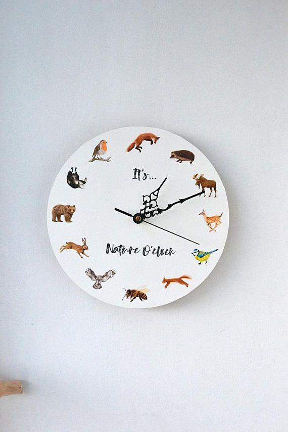 Woodland Clock Nature O Nursery Decor