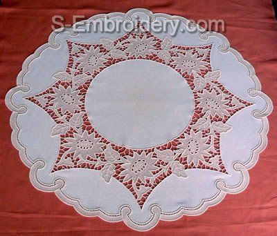 10576 Free standing lace floral doily - Google Search