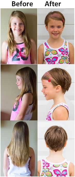 Pixie cut haircut for toddlers or young girls with thin or fine hair
