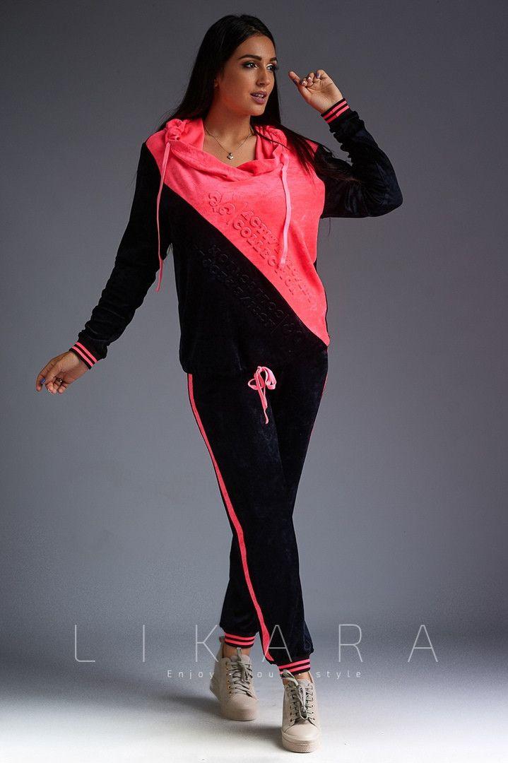 b18dc21f Женский костюм Likara большого размера / велюр / Украина 32-719 |  Strekozzza.com.ua | Женский костюм, Одежда, Большие размеры