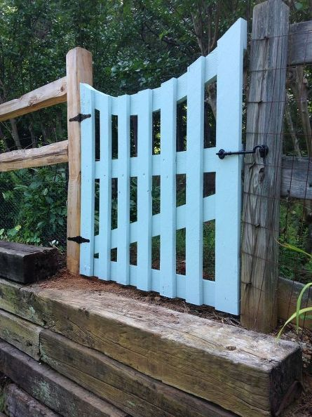Garden gate made from pallet boards