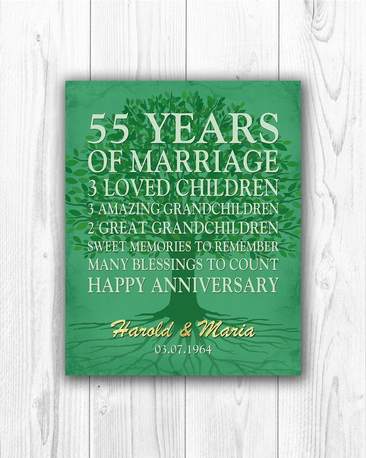 55th anniversary gift 55 years anniversary emerald green