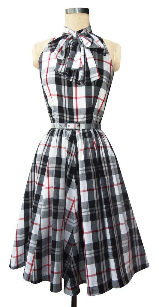 Trashy Diva Street Car Dress | Retro Dress | Black Plaid