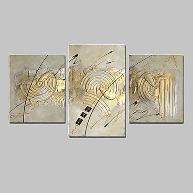 VISUAL STAR®High Quality Canvas Painting Hand-Painted Modern Oil Painting Art Ready to Hang 4205770 2016 – $167.30