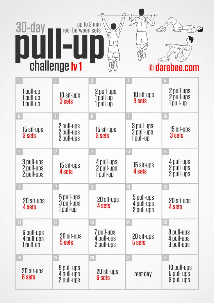 30-Day Pull-Up Challenge                                                                                                                                                     More