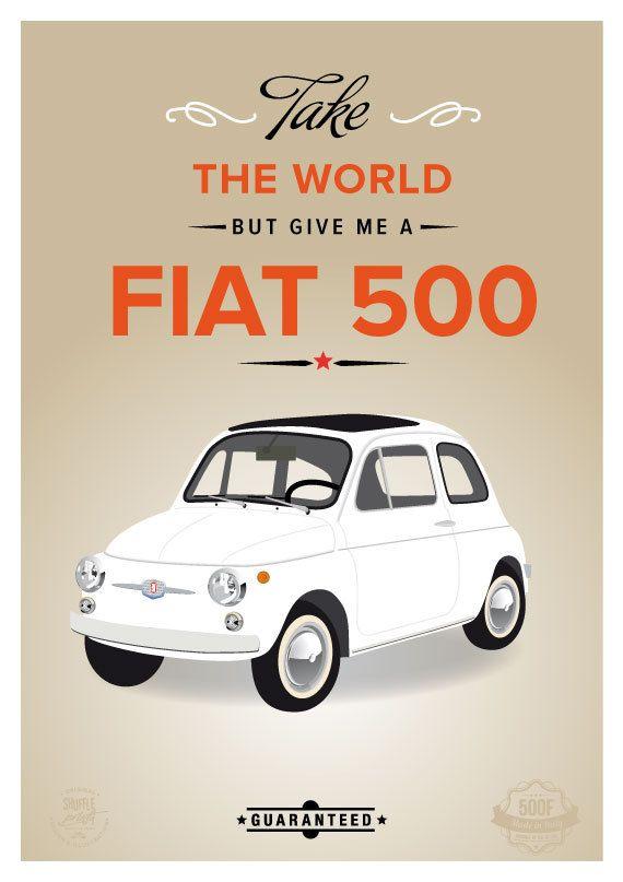 Fiat 500 la locandina italiana stampa italiana di ShufflePrints