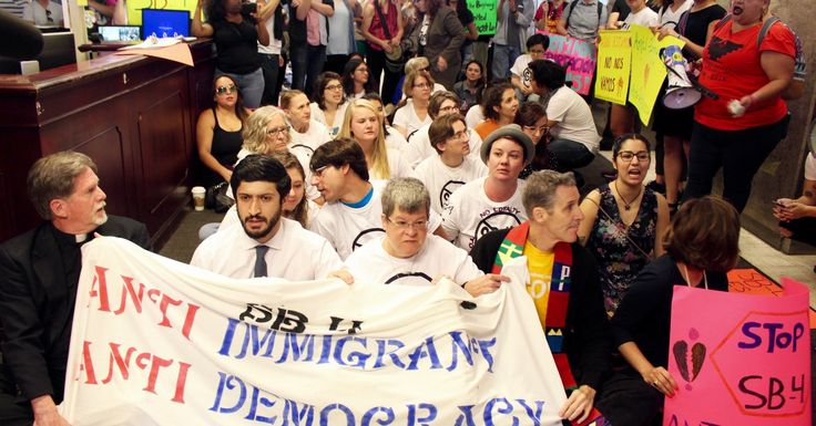 Texas Activists Occupy Governor's' Office To Stop Immigration Crackdown Bill