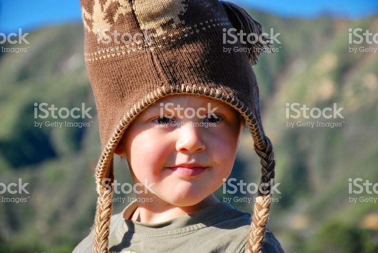 Child in Rural Beach Scene, Winter royalty-free stock photo