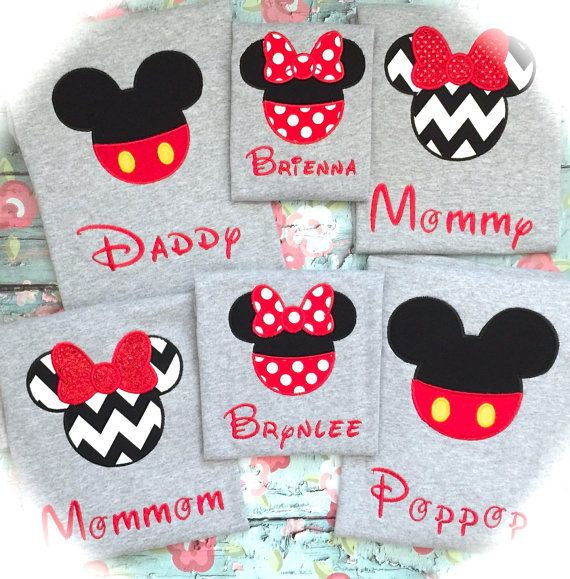 Best Price on Etsy!  Family Matching Disney Shirts GRAY SHORT SLEEVE Mickey/Minnie Free Personalization