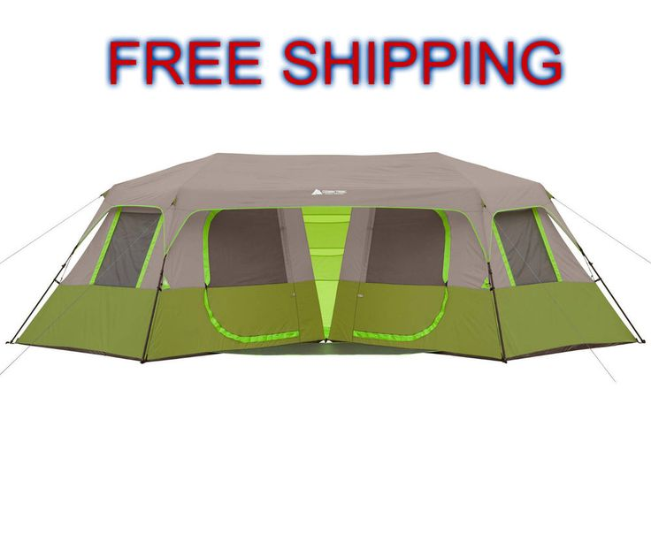 Cabin Tent 8 Person Instant C&ing Double Family Canopy 2 Rooms Porch Space NEW #OZARK  sc 1 st  Pinterest & 35 best Camping Tent images on Pinterest | Camp gear Camping ...