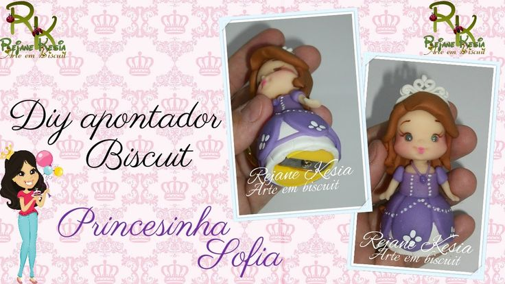 Apontador Princesa Sofia - Biscuit - Rejane Kesia