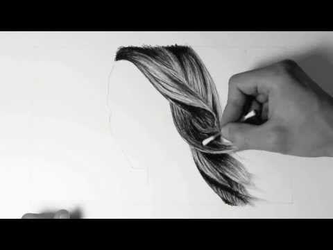 Wie zeichne ich Haare / how to draw hair - HD Video mit Audiokommentar (german) - YouTube