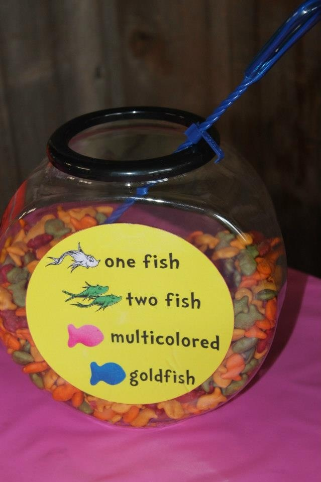 Oh the places you'll go, Dr. Seuss graduation party - one fish two fish multicolored goldfish